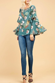 143 Story Bell-Sleeve Floral Top - Product Mini Image