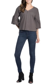 Blues & Greys  Bell-Sleeve Jersey-Top, Charcoal - Product Mini Image