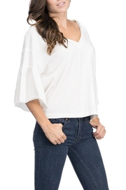 Blues & Greys  Bell-Sleeve Jersey-Top, White - Product Mini Image