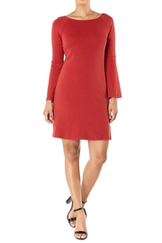 Aryeh Bell-Sleeve Knit Dress - Product Mini Image
