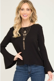 She + Sky Bell Sleeve Knit Top - Product Mini Image