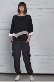 Planet Bell Sleeve Knit Top - Product Mini Image