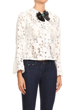 Shoptiques Product: Bell-Sleeve Lace Top