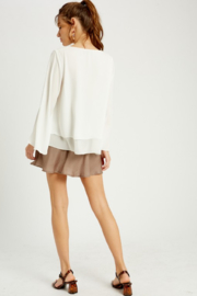 Wishlist Bell Sleeve Layered Blouse - Side cropped