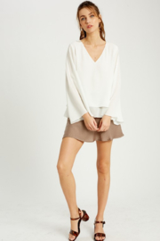 Wishlist Bell Sleeve Layered Blouse - Front cropped