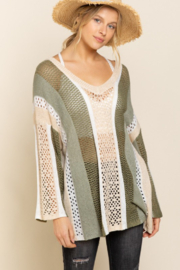 POL  Bell Sleeve Lightweight Sweater - Front cropped