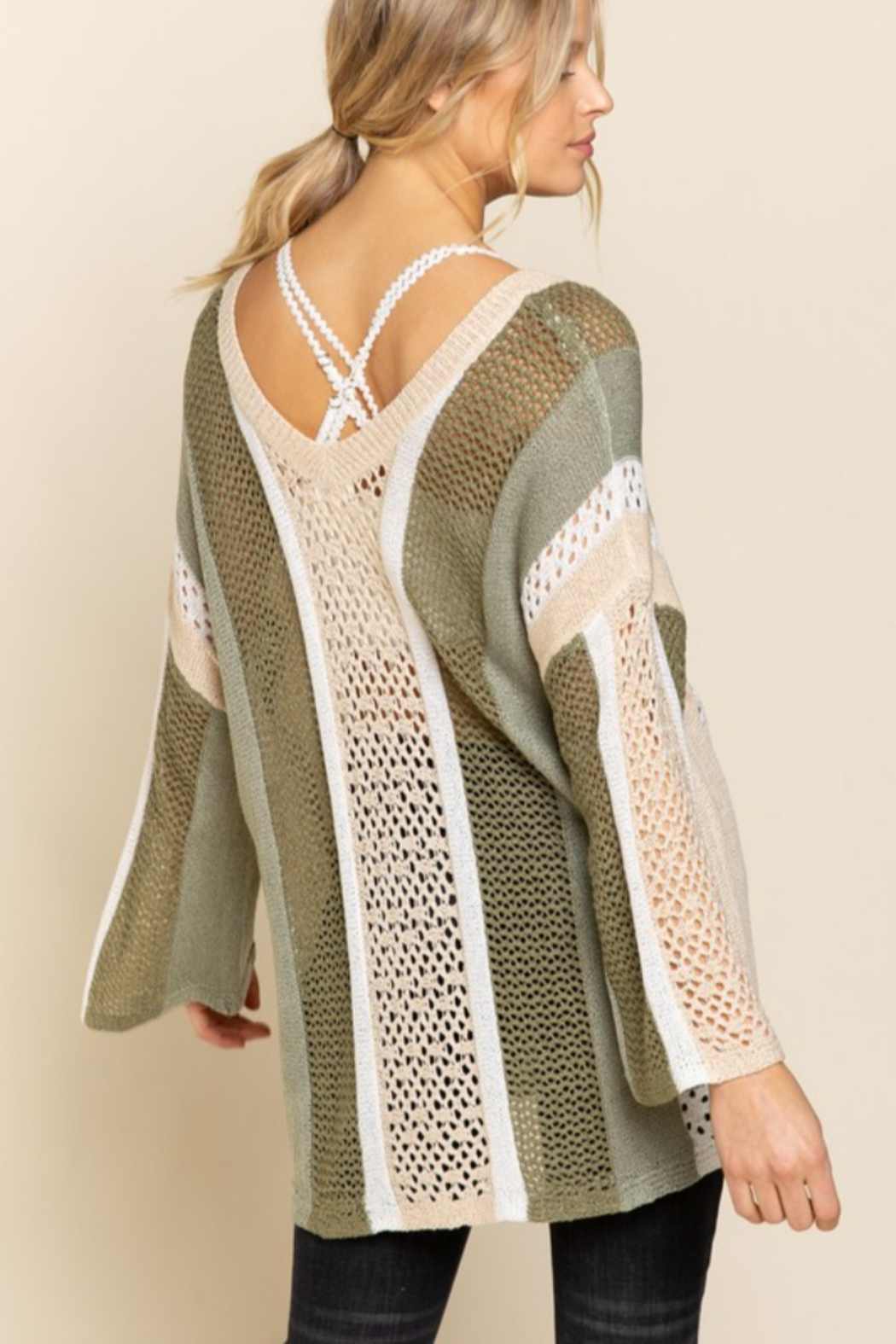 POL  Bell Sleeve Lightweight Sweater - Front Full Image