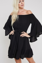 eesome Bell Sleeve Off Shoulder Dress - Front full body
