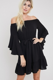 eesome Bell Sleeve Off Shoulder Dress - Product Mini Image