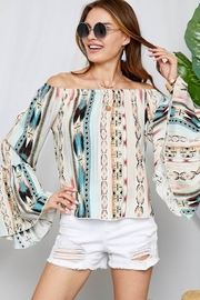 Adora Bell Sleeve Off Shoulder Top - Product Mini Image