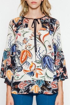 Flying Tomato Bell-Sleeve Printed Blouse - Product List Image
