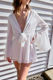 Very J  Bell Sleeve Romper - Product Mini Image