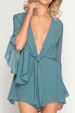 She + Sky Bell Sleeve Romper - Product List Image