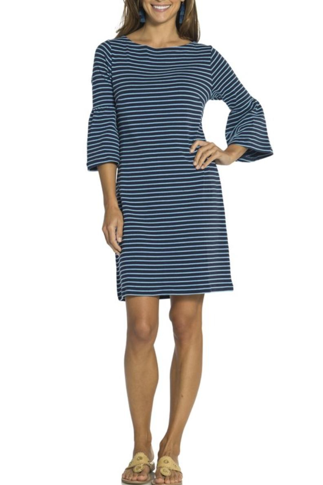 Sail to Sable Bell Sleeve Shift - Front Cropped Image