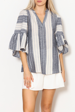 Shoptiques Product: Bell Sleeve Striped Shirt
