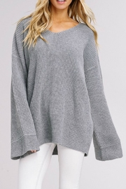 Listicle Bell Sleeve Sweater - Product Mini Image