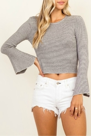 Olivaceous Bell Sleeve Sweater - Product Mini Image