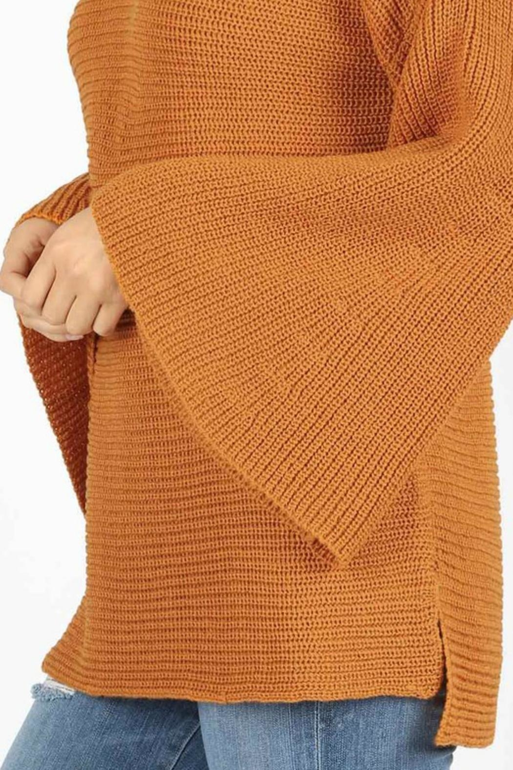 Zenana Outfitters Bell Sleeve Sweater - Front Full Image