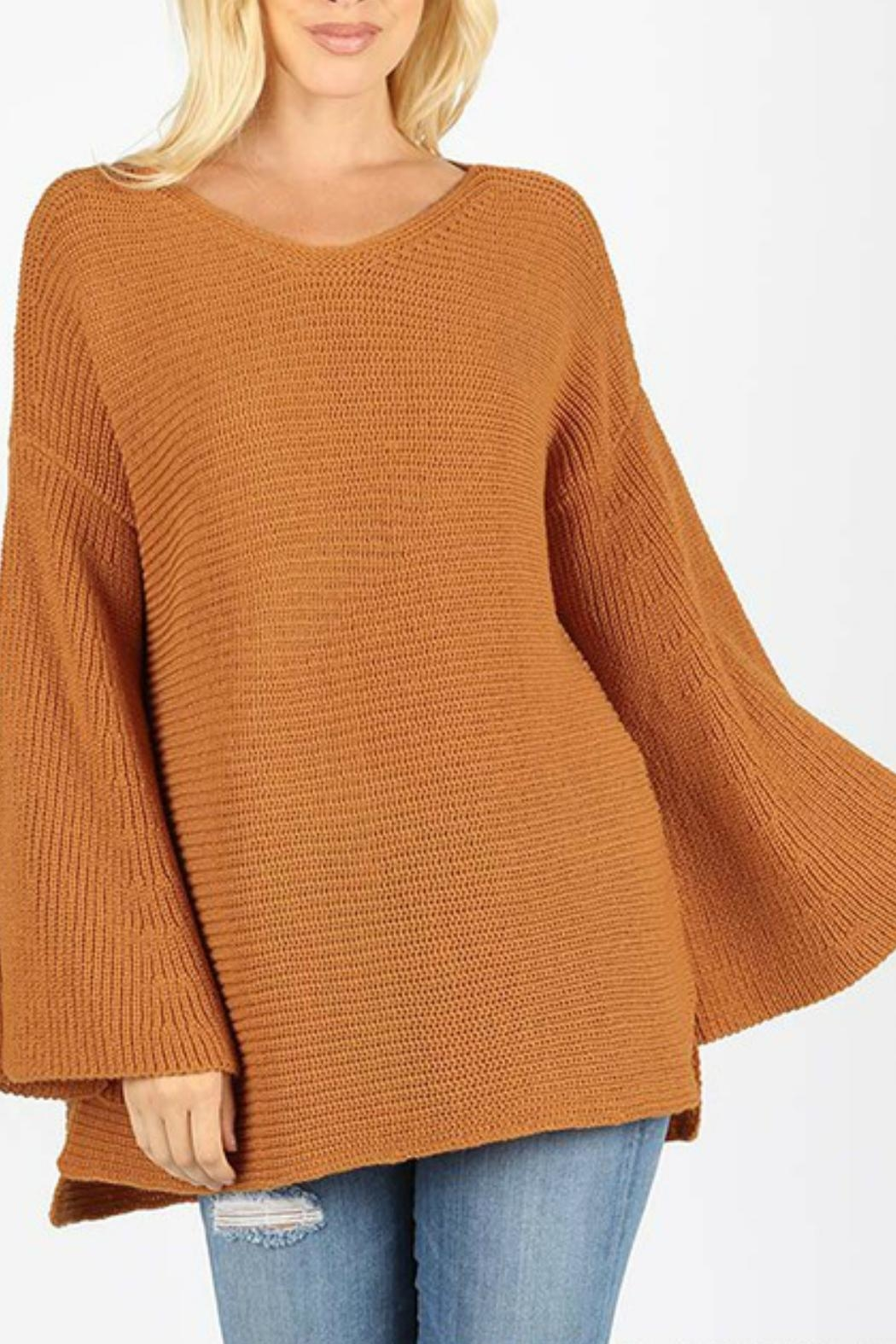 Zenana Outfitters Bell Sleeve Sweater - Main Image