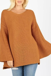 Zenana Outfitters Bell Sleeve Sweater - Front cropped