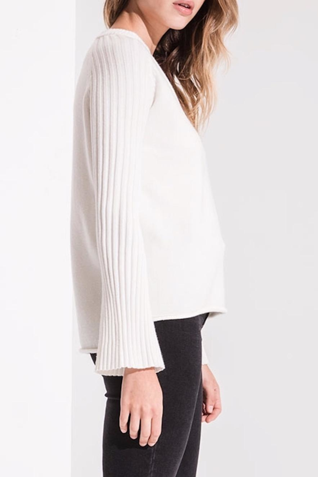rag poets Bell Sleeve Sweater - Back Cropped Image