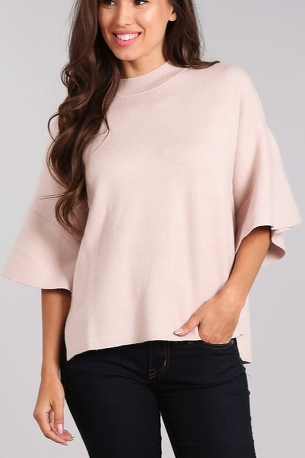 Blvd Bell Sleeve Sweater - Front Cropped Image
