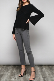 Do & Be Bell Sleeve Sweater With Rib Details - Back cropped