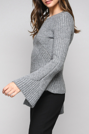 Do & Be Bell Sleeve Sweater With Rib Details - Front full body