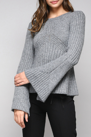 Do & Be Bell Sleeve Sweater With Rib Details - Product Mini Image