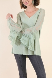 Umgee USA Bell Sleeve Top - Product Mini Image