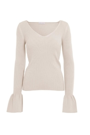 Minnie Rose Bell Sleeve Top - Front cropped