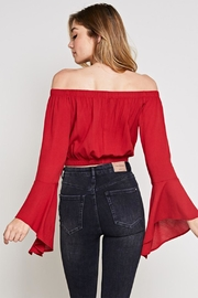 blue blush Bell Sleeve Top - Side cropped