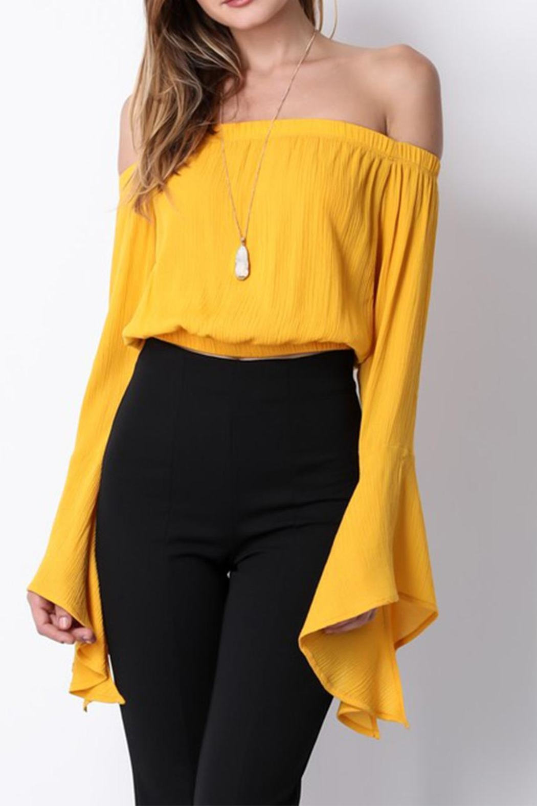blue blush Bell Sleeve Top - Main Image