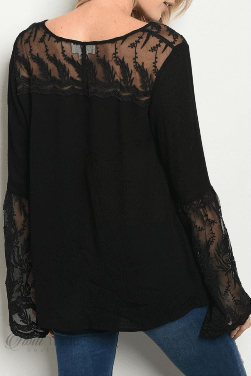 LoveRiche Bell Sleeve Top - Front Full Image