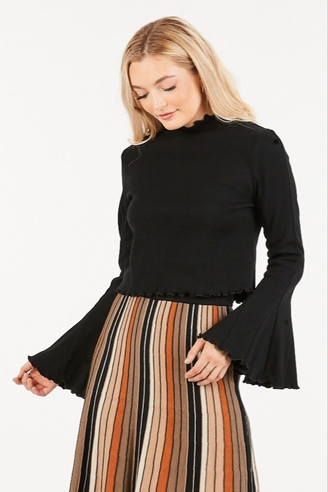 Very J  Bell Sleeve Top - Front Cropped Image