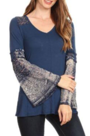 T Party Bell Sleeve Tunic Top - Product Mini Image