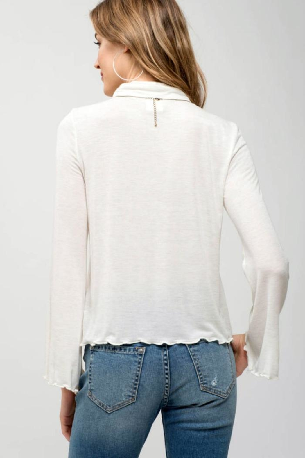 Blu Pepper Bell-Sleeve Turtle-Neck Top - Side Cropped Image