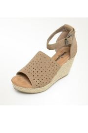 Minnetonka Bell Suede Wedge - Front cropped