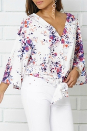 Izzie's Boutique Bell Tie Blouse - Product Mini Image