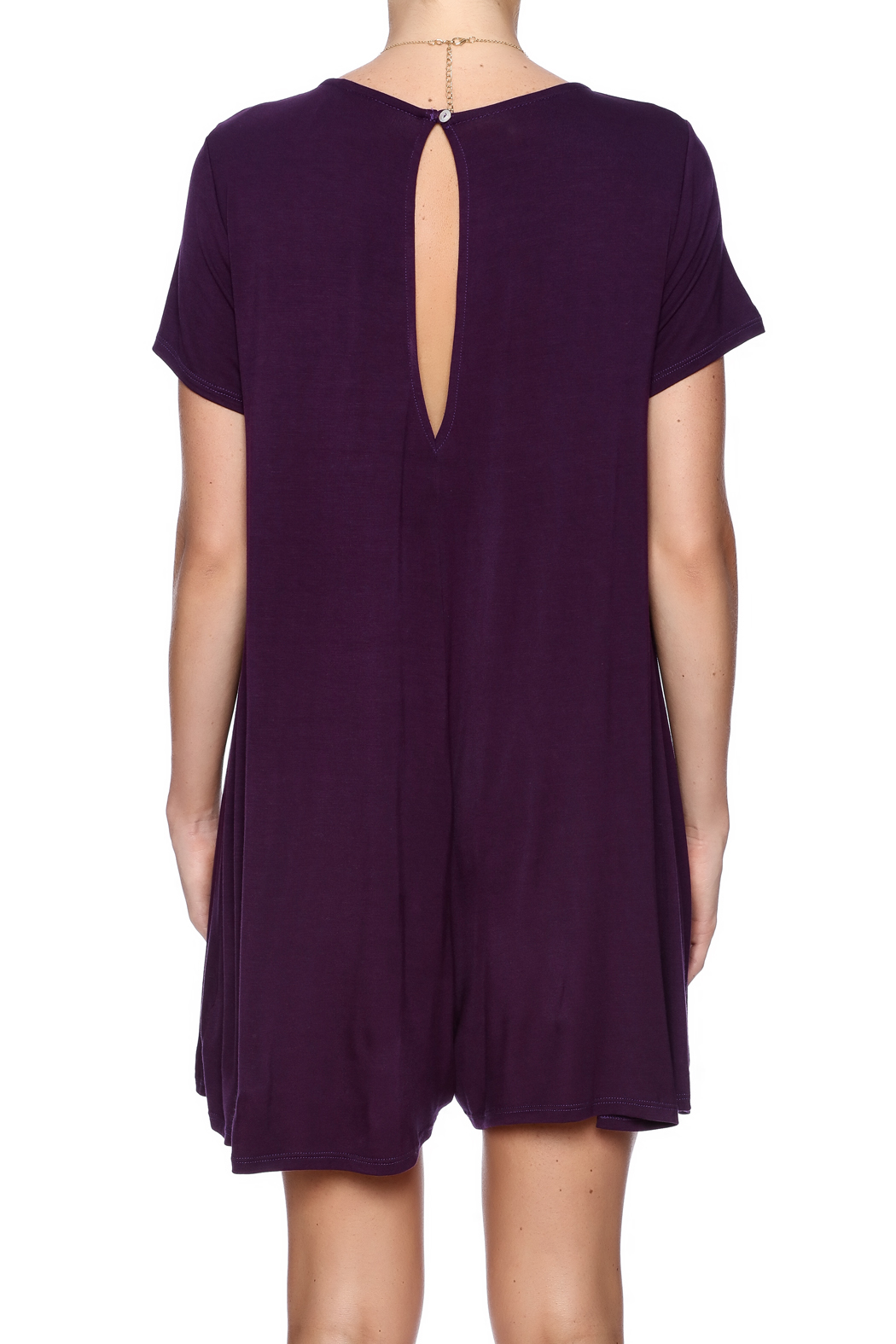 Bella Bella  Geaux Girl Romper - Back Cropped Image