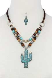 Bella Cactus Pendant Necklace Set - Product Mini Image