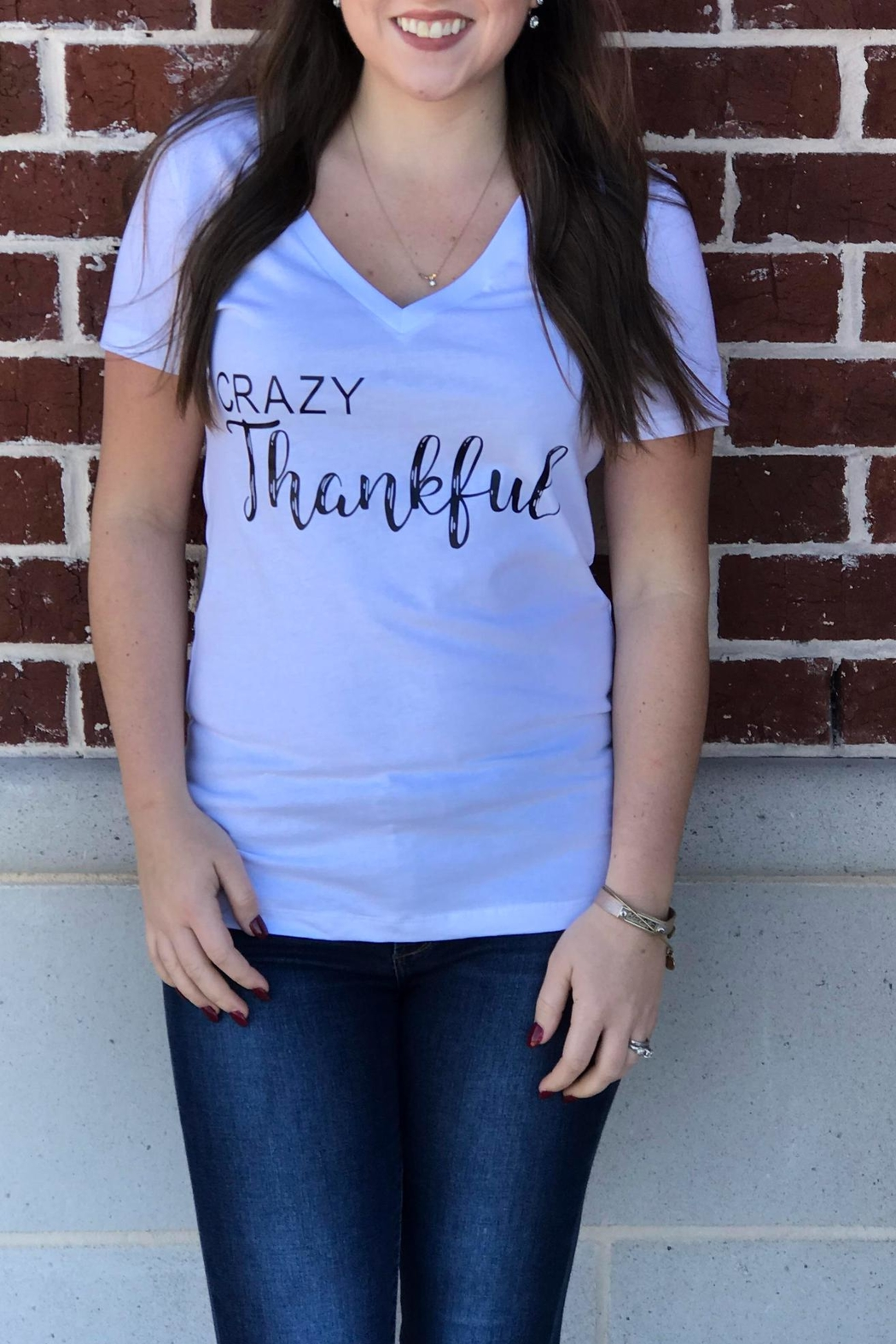 Bella Crazy Thankful Tee - Front Cropped Image
