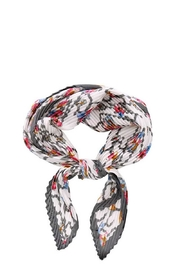 Bella Designer Pleated Bandana Scarf - Front cropped
