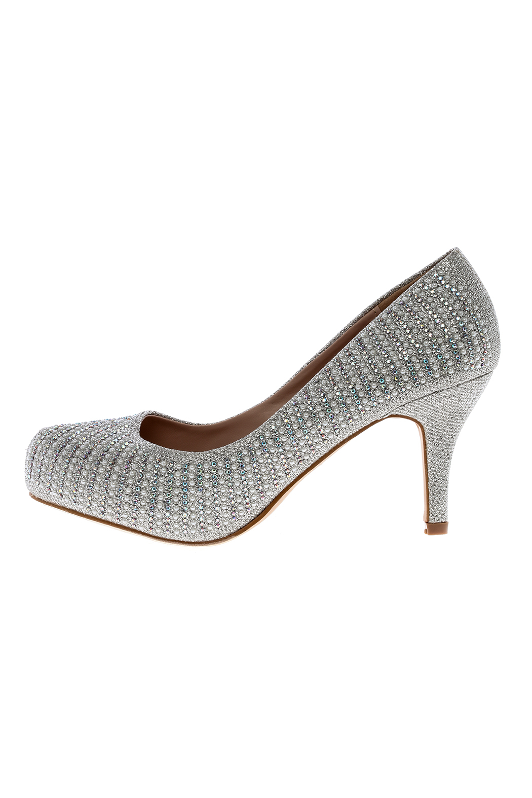 Bella Luna by Springland Footwear Round Silver Pump - Front Full Image