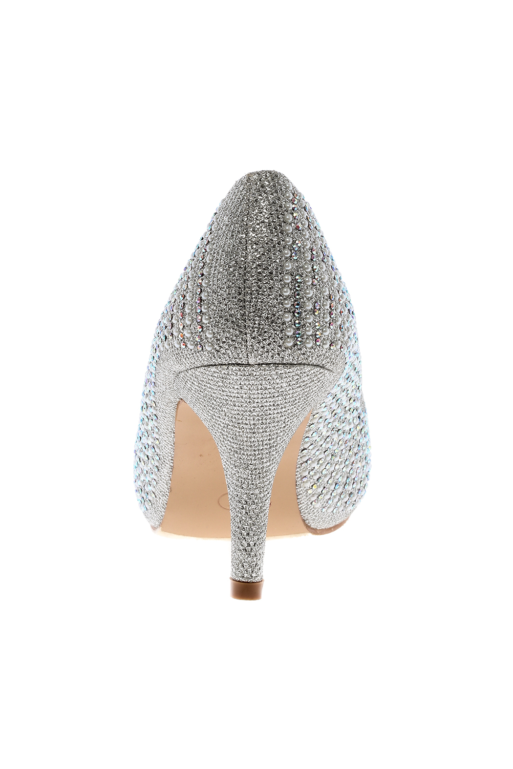 Bella Luna by Springland Footwear Round Silver Pump - Back Cropped Image