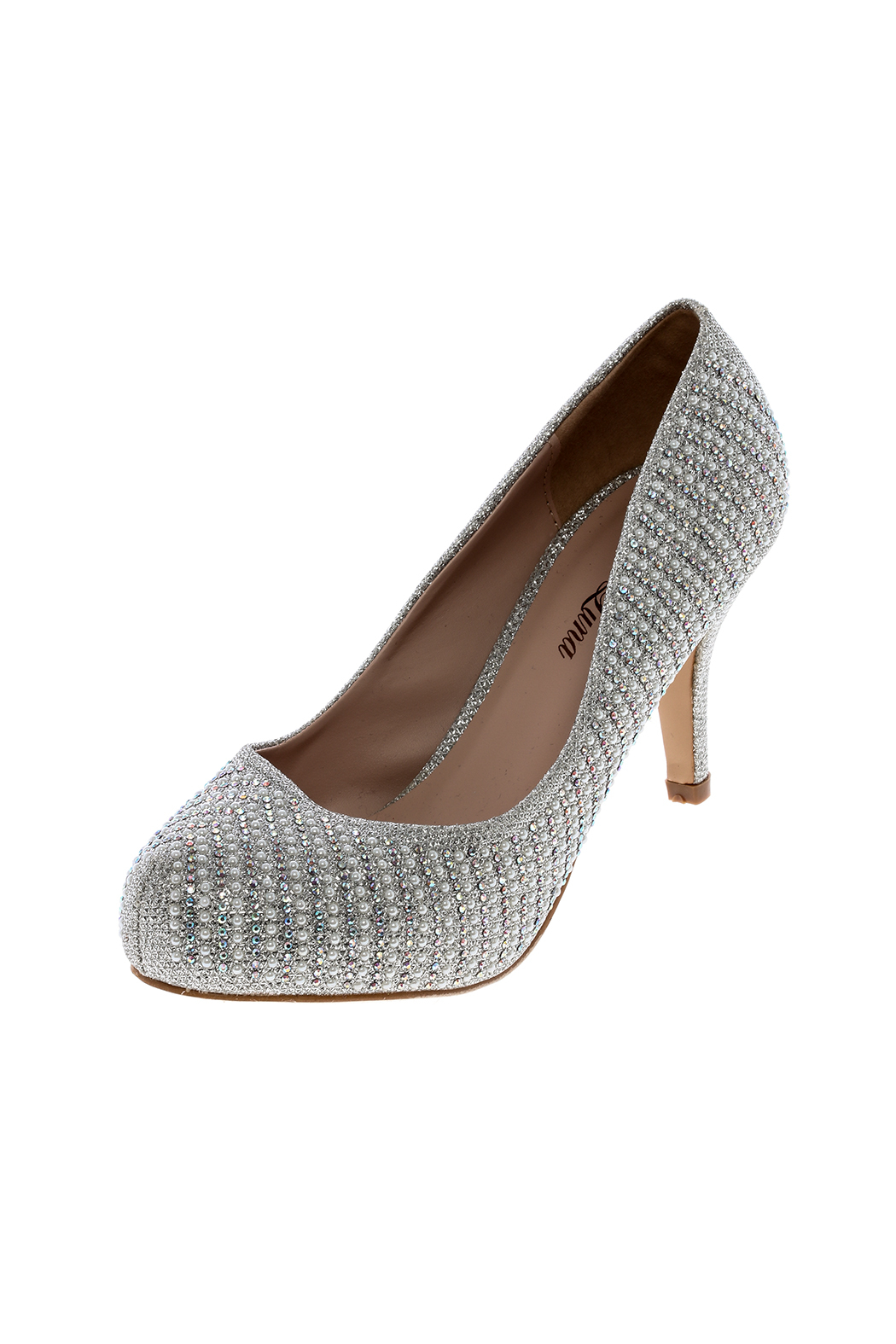 Bella Luna by Springland Footwear Round Silver Pump - Front Cropped Image