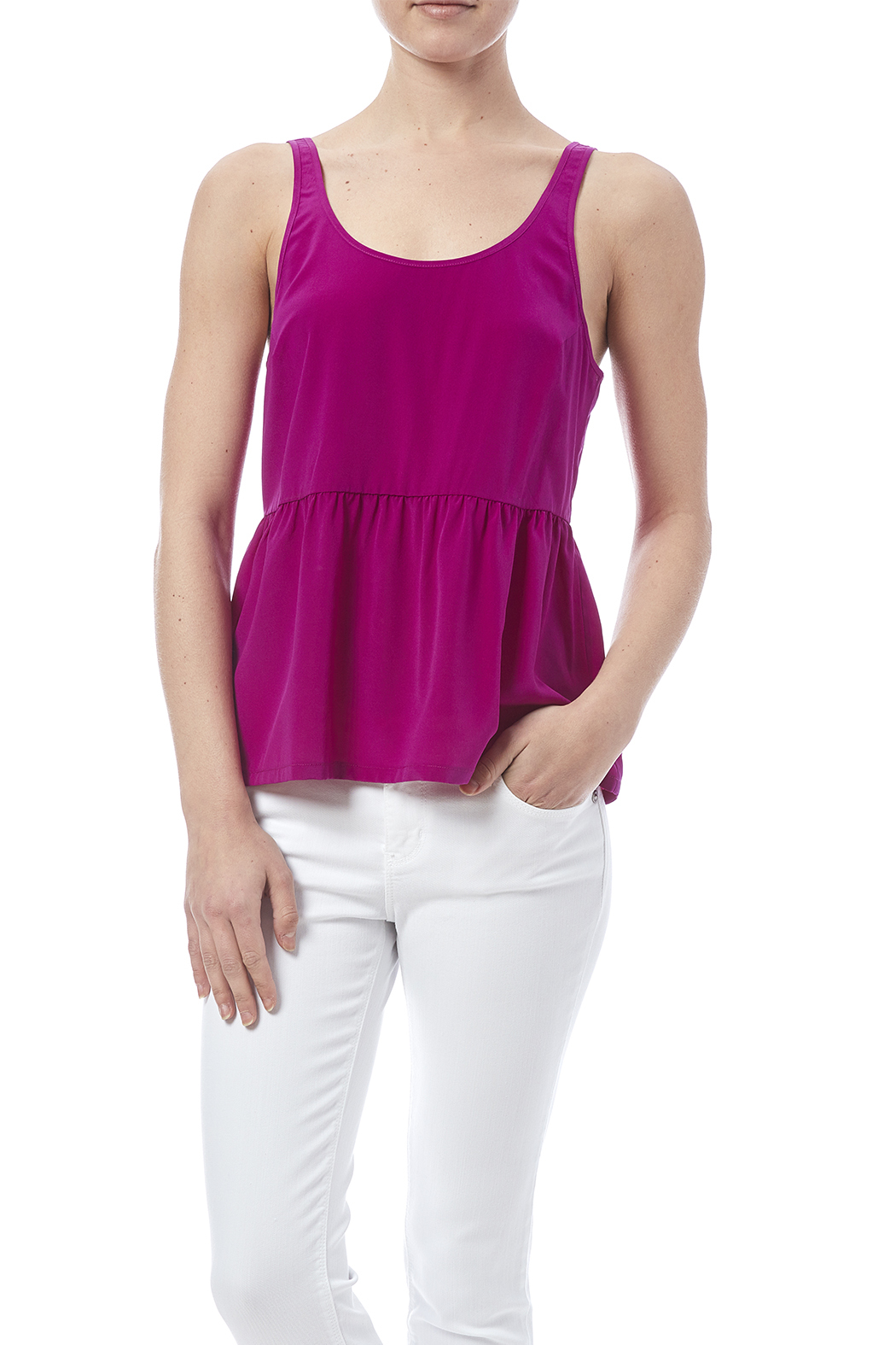 Bella Luxx Shirred Tank From San Diego By Little Apple Shoptiques