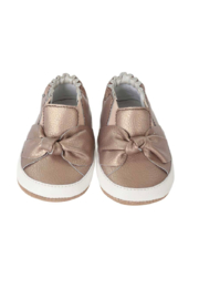 Robeez Bella's Bow Mini Shoes Bronze - Front full body