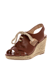 Shoptiques Product: Lace Up Wedge Espadrille - Back cropped