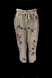 Bella Amore Floral Printed Linen Pants - Product Mini Image